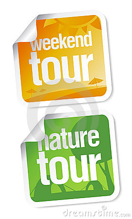 Weekend tours stickers