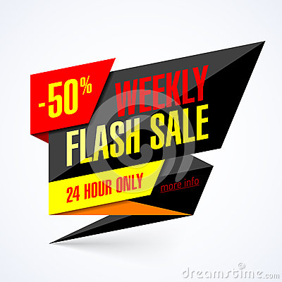 Free Weekly Flash Sale Banner Stock Images - 71624254
