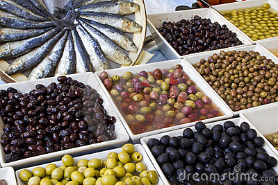Weekly market olives shop