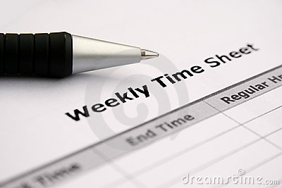 employee timesheet clipart