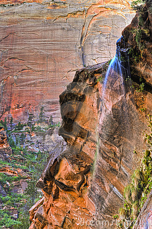 Weeping Rock in Zion Canyon