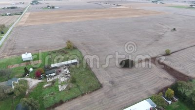 Weergeven van de gebieden van het landbouwgrondgewas in Midwesten Verenigde Staten, Illinois stock footage
