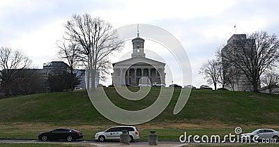 Weergeven van het Tennessee State Capitol-gebouw in Nashville 4K stock video