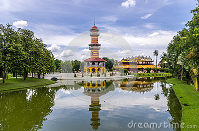 Wehart Chamrunt Palace (Heavenly Light), in Bang Pa-in Royal Pal Editorial Stock Photo