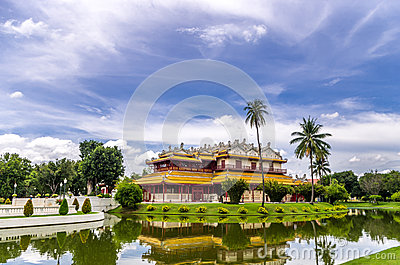 Wehart Chamrunt Palace or Heavenly Light, and Ho Withun Thasana, Editorial Image