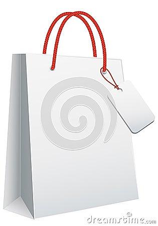 Weiße Einkaufstasche