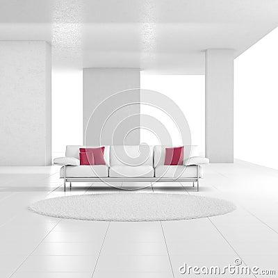 wei er raum mit teppich stockfoto bild 26132300. Black Bedroom Furniture Sets. Home Design Ideas