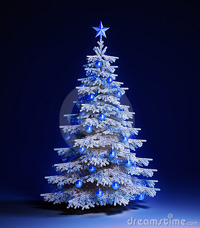 wei er weihnachtsbaum stockbilder bild 22279404. Black Bedroom Furniture Sets. Home Design Ideas