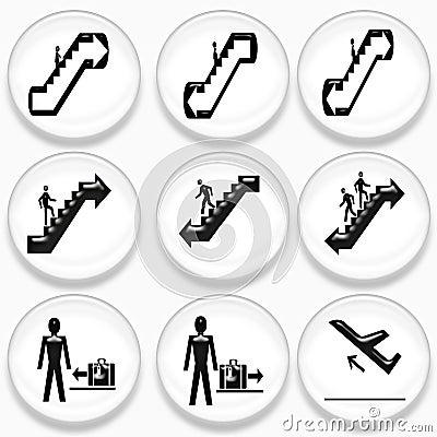 Weißes und schwarzes Flughafensymbol