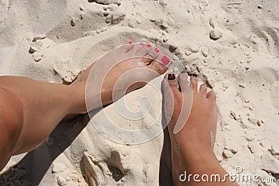 Weibliche Füße