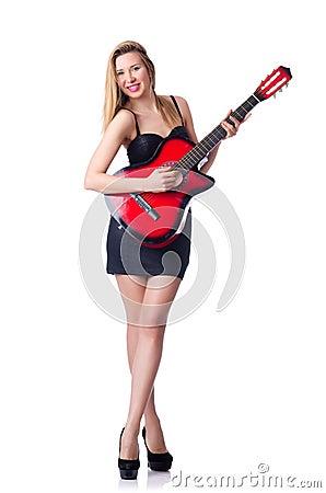 Weiblicher Gitarrist