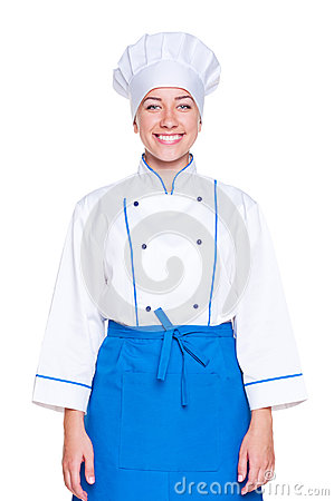 Weiblicher Koch des smiley