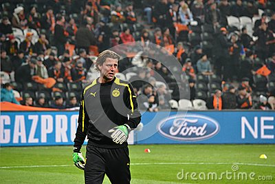 Weidenfeller is ready to play Editorial Stock Image