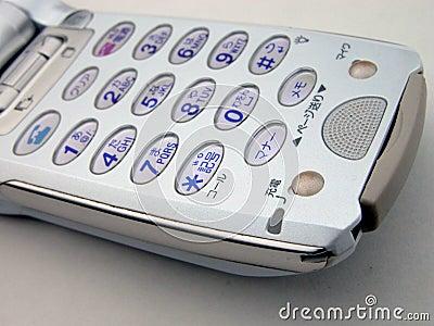 Weißes handliches Telefon