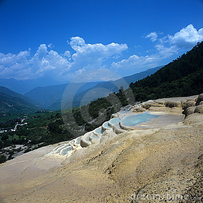 Weißes Wasser-Terrasse