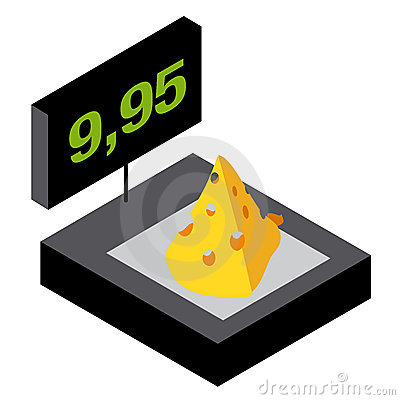 Weighing cheese