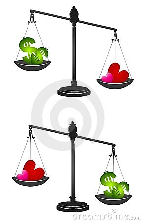 Weighing Love or Money