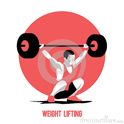 Free Weight Lifting Athlete Stock Images - 71685574