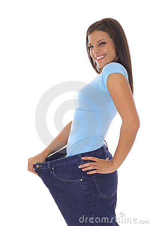 Free Weight Loss Jeans Stock Image - 14754101