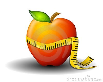 Weight Loss Measuring Tape Apple
