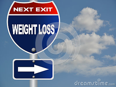 Weight loss road sign