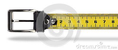 Weight loss tape measure belt