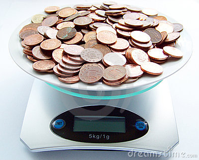 Weight of money