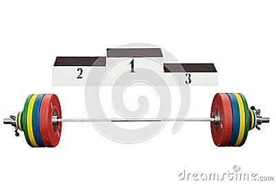 Weight near the podium