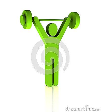 Weight Practice Symbol