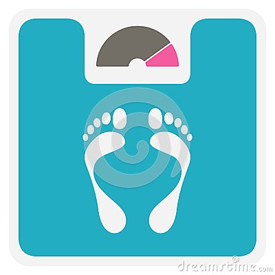 Free Weight Scale Icon Royalty Free Stock Photos - 37346608