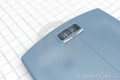 Weight scale with word help