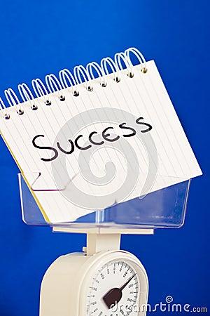 Weight of success, balance measuring pros & cons