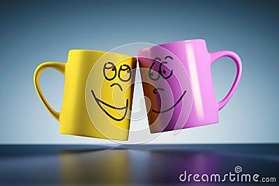 Weightless coffee mugs