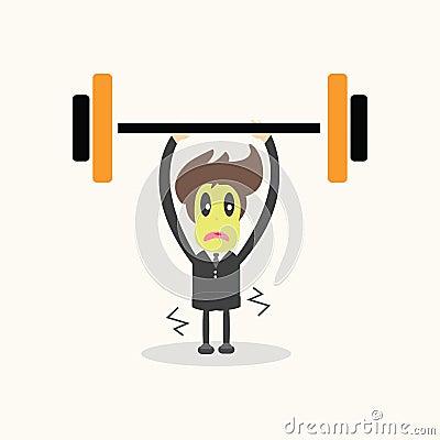Weightlifter,business man.