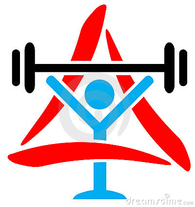 Weightlifter with triangle