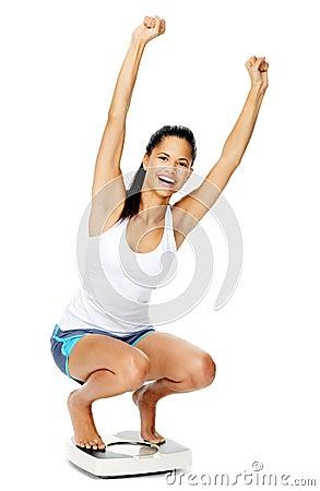 Weightloss woman joy