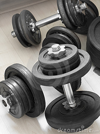 Free Weights Royalty Free Stock Image - 9551746