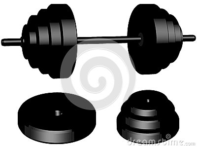 Weights isolated
