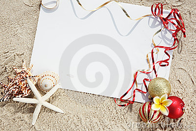 weihnachten am strand stockfotografie bild 20840602. Black Bedroom Furniture Sets. Home Design Ideas