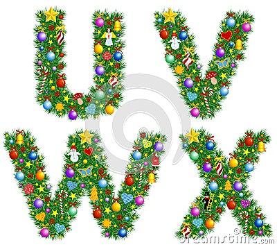 Weihnachtsalphabet