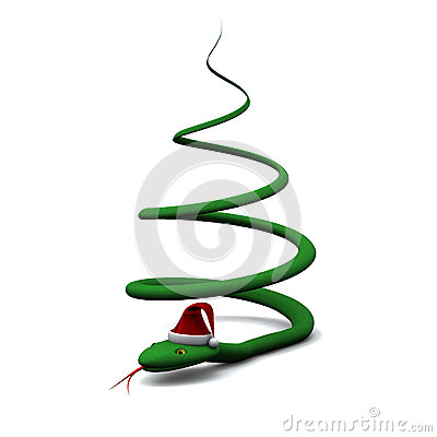 weihnachtsbaum gebildet von der schlange 3d stockbild. Black Bedroom Furniture Sets. Home Design Ideas
