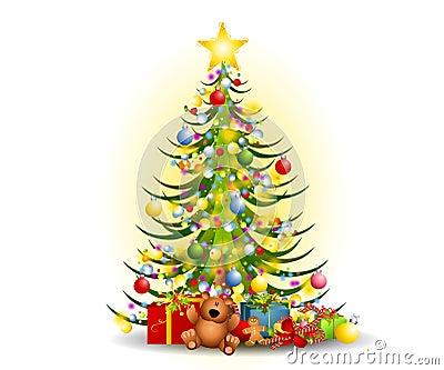 weihnachtsbaum geschenk klipp kunst stockbild bild 6989651. Black Bedroom Furniture Sets. Home Design Ideas