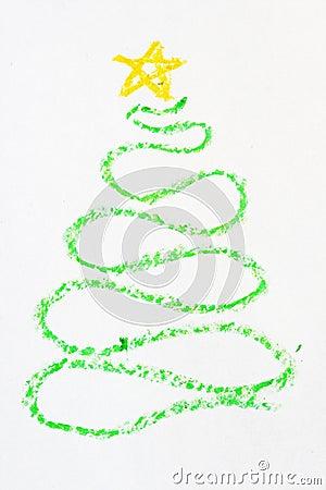 weihnachtsbaum gezeichnet in zeichenstift stockfoto bild. Black Bedroom Furniture Sets. Home Design Ideas