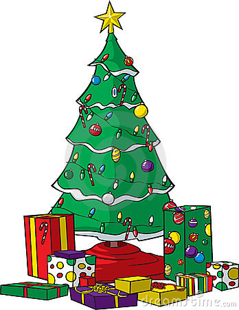 weihnachtsbaum mit geschenken lizenzfreie stockfotografie. Black Bedroom Furniture Sets. Home Design Ideas