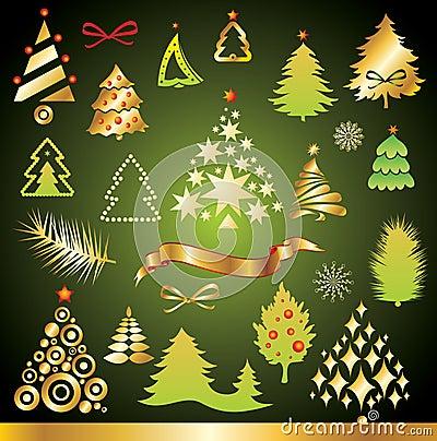 Weihnachtsbaumansammlung