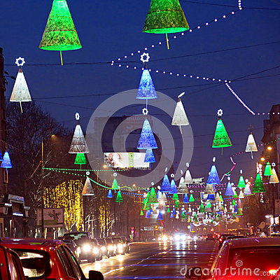 Weihnachtsdekorationen in Bucharest
