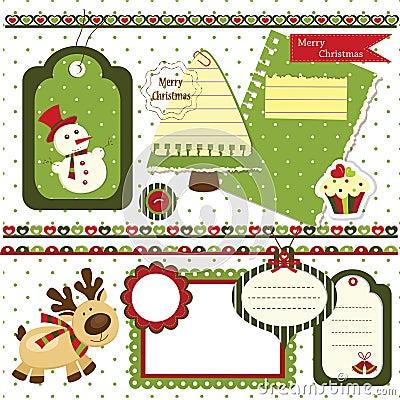 Weihnachtseinklebebuchsatz