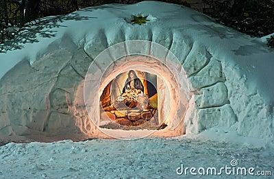 WeihnachtsGeburt Christiszene