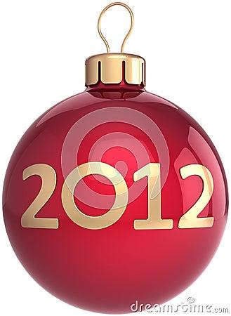 Weihnachtskugel neuer 2012-Jahr-Flitter