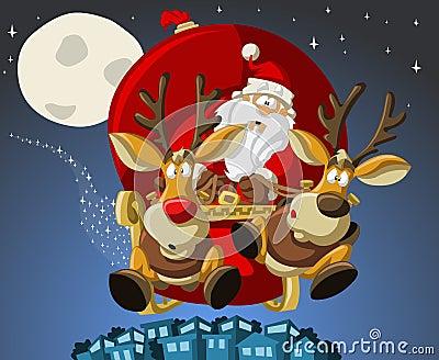 Weihnachtsmann auf Weihnachtszeit